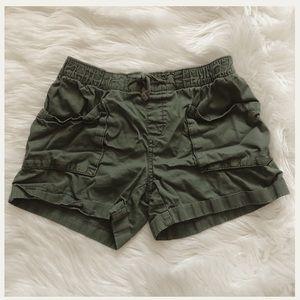 Girls army green shirts size large